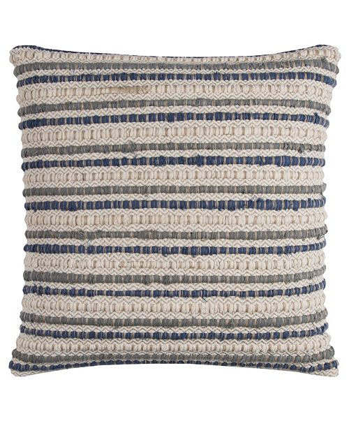"Rizzy Home 20"" x 20"" Striped Pillow Cover"