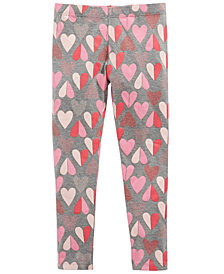 Epic Threads Toddler Girls Heart-Print Leggings, Created for Macy's