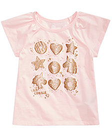 Epic Threads Little Girls Glitter Donuts Graphic T-Shirt, Created for Macy's