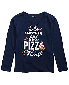 Epic Threads Big Girls Pizza My Heart Graphic T-Shirt, Created for Macy's