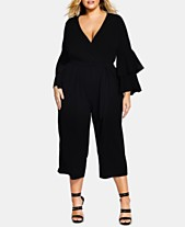 a8a9c64fb94 City Chic Trendy Plus Size Ruffle-Sleeve Jumpsuit