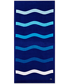 "Lacoste Kane Cotton 36"" x 72"" Beach Towel"