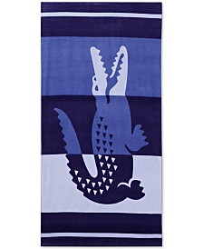 "CLOSEOUT! Lacoste Duke Cotton 36"" x 72"" Beach Towel"