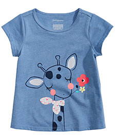 First Impressions Baby Girls Giraffe-Print T-Shirt, Created for Macy's
