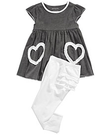 First Impressions Baby Girls Hearts Tunic & Ruffle-Back Leggings, Created for Macy's