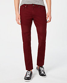I.N.C. Men's Colored Moto Skinny Jeans, Created for Macy's