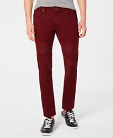 I.N.C. Men's Moto Stretch Skinny Jeans, Created for Macy's