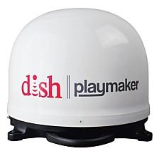 Winegard DISH Playmaker HD Portable Satellite Antenna with Wally HD Satellite Receiver Bundle - White