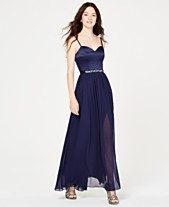 4aad68e6567 City Studios Juniors  Rhinestone-Belted Chiffon Gown