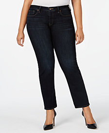 Lucky Brand Plus Size Lolita Straight Jeans