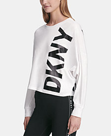 DKNY Sport Logo Dolman-Sleeve T-Shirt, Created for Macy's