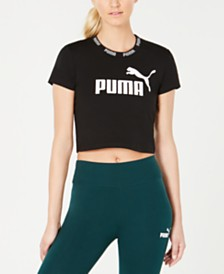 Puma Amplified Logo Cropped T-Shirt