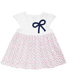 First Impressions Baby Girls Heart-Print Bow Tunic, Created for Macy's