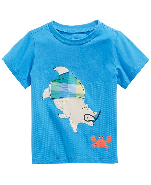 First Impressions Baby Boys Swimming Bear Graphic T-Shirt, Created for Macy's