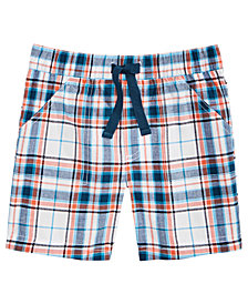 First Impressions Baby Boys Cotton Plaid Shorts, Created for Macy's