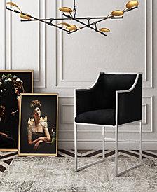 Atara Black Velvet Silver Chair