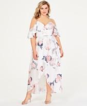 001d96706c7 City Chic Trendy Plus Size Cold-Shoulder Maxi Dress