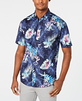 f4ba298a1 Club Room Men's Winslow Floral Graphic Shirt, Created for Macy's