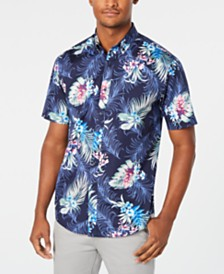 Club Room Men's Woven Graphic Shirts, Created for Macy's