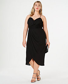 City Chic Trendy Plus Size Adoration Draped Midi Dress