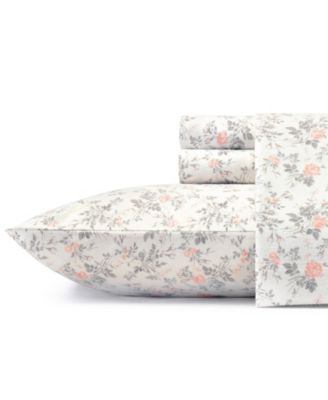 Rosalie Lt-Pastel Grey Twin Flannel Sheet Set