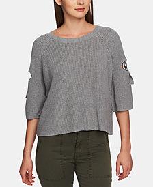 1.STATE Cotton Cutout Hardware Sweater