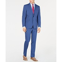 Deals on Kenneth Cole Reaction Mens Techni-Cole Slim-Fit Stretch Slim-Fit Suit