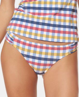 Texture Side-Shirred Hipster Bikini Bottoms