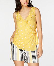 I.N.C. Ruffled Wrap Top, Created for Macy's