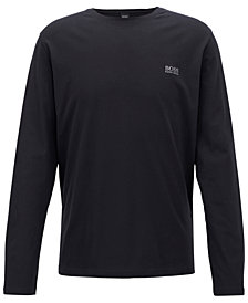 BOSS Men's Embroidered Long-Sleeve T-Shirt