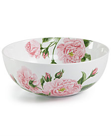 Martha Stewart Collection Floral Vegetable Bowl, Created for Macy's