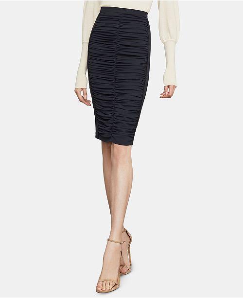 ad2b3e6e236 BCBGMAXAZRIA Ruched Twill Pencil Skirt  BCBGMAXAZRIA Ruched Twill Pencil  Skirt ...