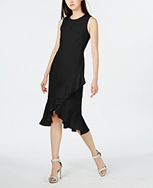 Sleeveless Ruffled Wrap-Hem Dress