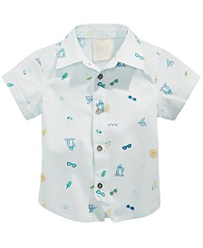 First Impressions Baby Boys Beach Vibes Printed Cotton Shirt, Created for Macy's