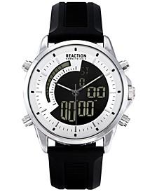 Men's Analog-Digital Black Silicone Strap Watch 42mm
