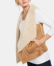 BB Dakota Maternity Draped Faux Suede Vest