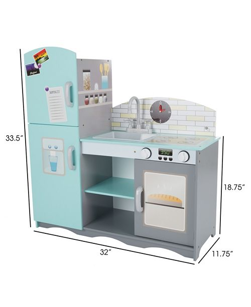 Trademark Global Kids Toy Kitchen Set By Hey Play