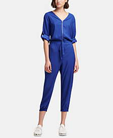DKNY Roll-Tab Sleeve Jumpsuit