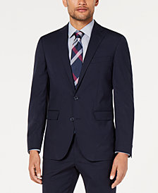 Cole Haan Men's Grand.OS Wearable Technology Slim-Fit Stretch Grid Jacket