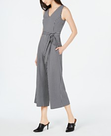 Calvin Klein Printed Cropped Sleeveless Jumpsuit