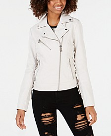 Asymmetrical Faux-Leather Moto Jacket