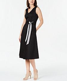 Calvin Klein Sateen Midi Dress