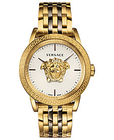 Versace Men's Swiss Palazzo Empire Two-Tone Stainless Steel Bracelet Watch 43mm