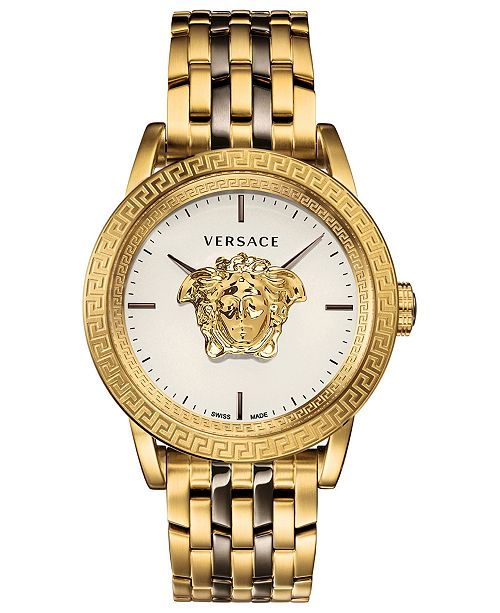 Versace Men's Swiss Palazzo Empire Two-Tone Stainless Steel Bracelet Watch 43mm