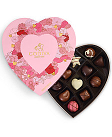 Godiva 14-Pc. Assorted Chocolates Heart Gift Box