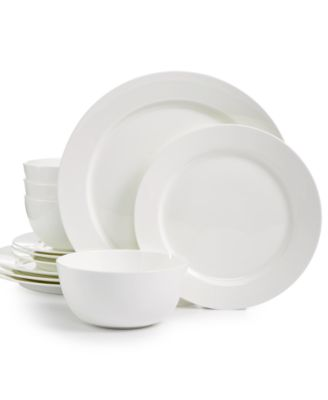New Round 12-Pc. Dinnerware Set, Service for 4, Created for Macy's