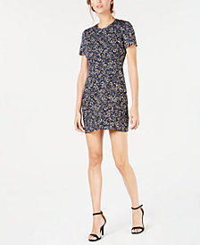 French Connection Audrene Printed Flare Dress