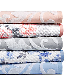 Martha Stewart Collection Textured Fashion Bath Towel Collection, Created for Macy's