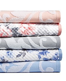 CLOSEOUT! Martha Stewart Collection Textured Fashion Bath Towel Collection, Created for Macy's