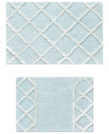 Diamond 2-Pc. Cloud Blue Bath Rug Set